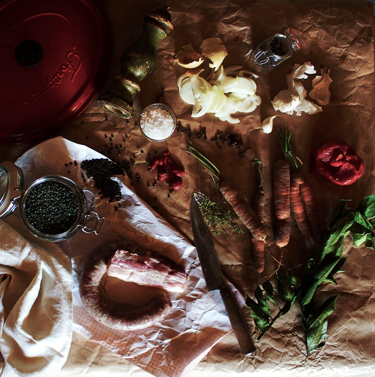 Ingredients for Le Puy green lentils recipe | Infinite belly