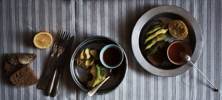 Avocado snack, two ways
