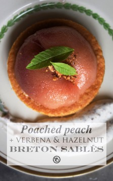 Poached peach