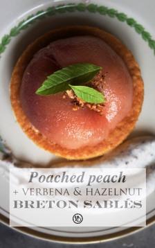 Poached peach