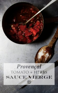 Provençal tomato sauce vierge | Infinite belly