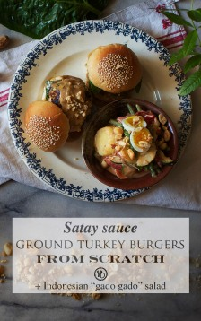 Satay sauce turkey burgers | Infinite belly