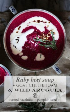 Beetroot soup & arugula | Infinite belly