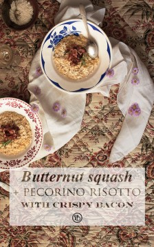 Butternut & pecorino risotto with crispy bacon | Infinite belly