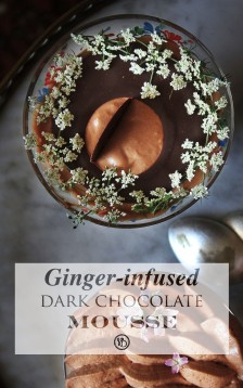 Ginger dark chocolate mousse | Infinite belly