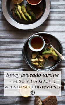 Spicy miso & Tabasco avodaco tartine | Infinite belly