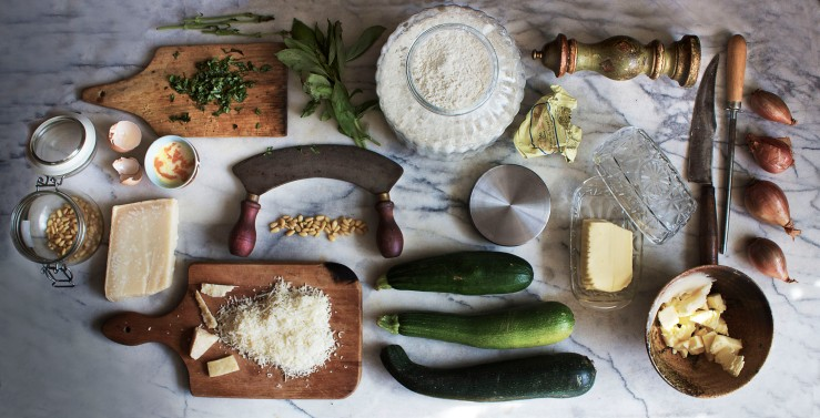 Parmesan, basil & zucchini garden pie | Infinite belly