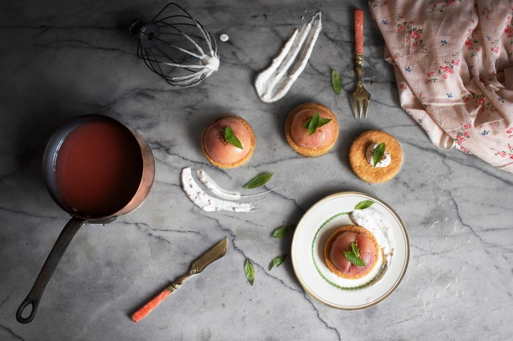 Poached peach & verbena tartlets 3 | Infinite belly