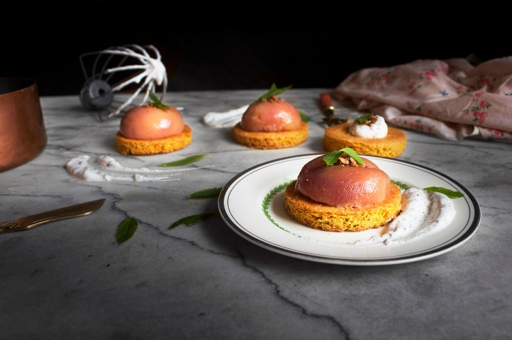 Poached peach & verbena tartlets 5 | Infinite belly