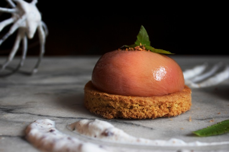 Poached peach & verbena tartlets 8 | Infinite belly