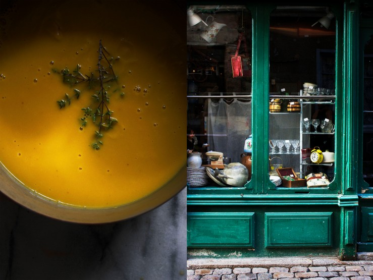 Roasted pumpkin soup & antiquity shop in Craponne | Infinite belly copy