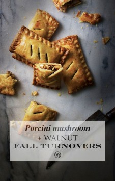 Porcini mushroom & walnut fall turnovers | Infinite belly