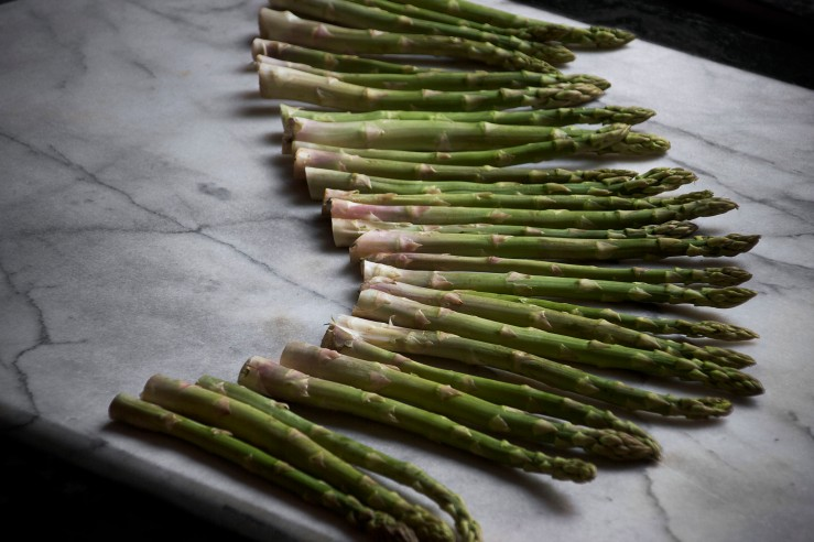 Honey roasted asparagus & goat cheese puff tarts 3b | Infinite belly