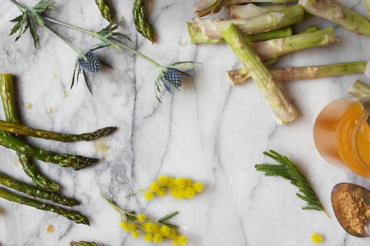 Honey roasted asparagus & goat cheese puff tarts 7 | Infinite belly